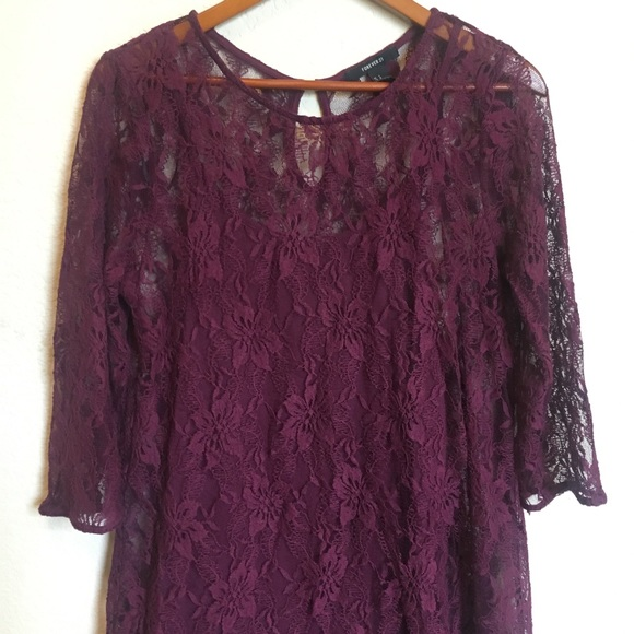 Forever 21 Dresses & Skirts - Forever 21 Purple Lace Dress